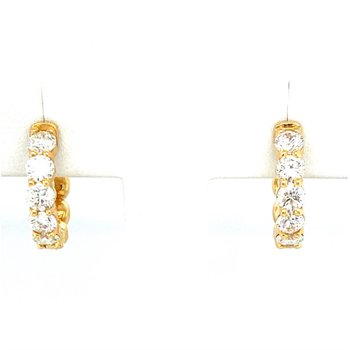 Diamond Small 2 1/4 Carat Hoop Earrings