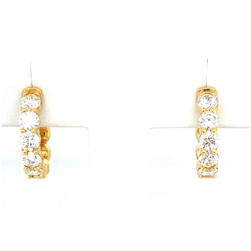 Murphy Pitard Signature Collection Diamond Small 2 1/4 Carat Hoop Earrings
