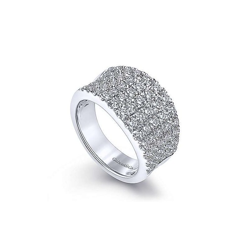 Gabriel & Co. New York Diamond Curved Wide Band