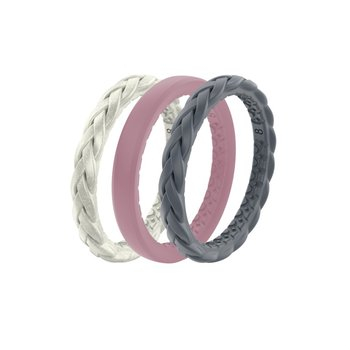 Stackable Silicone Bands - Size 8