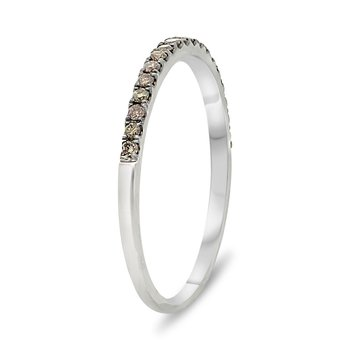 Champagne Diamond Stackable Band
