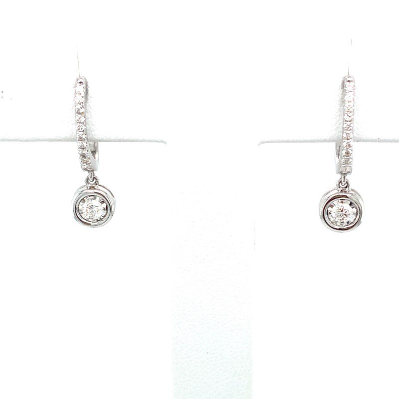 Murphy Pitard Signature Collection Diamond Dangle Hoop Earrings