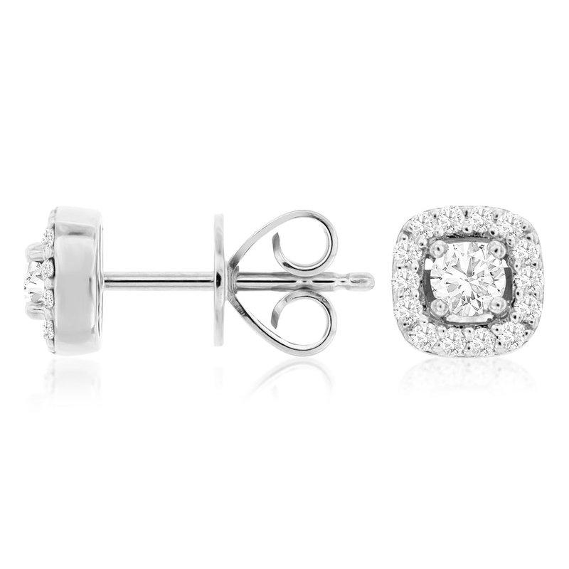 Murphy Pitard Signature Collection Diamond Stud Halo Earrings