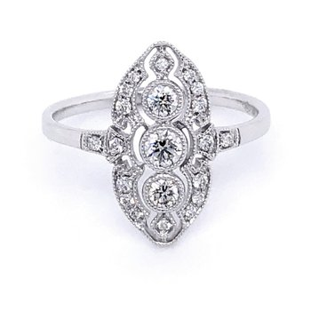 Dainty Vintage Inspired Diamond Ring