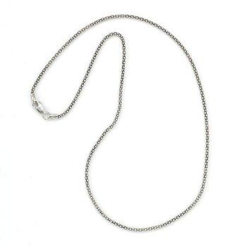 Silver 18 Inch Pop Corn Chain