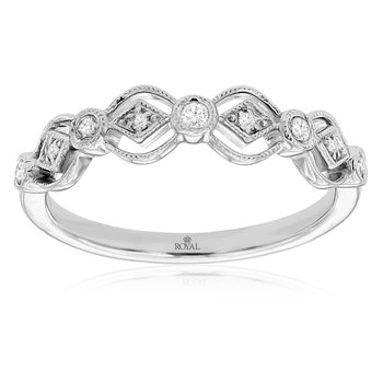 Vintage Milgrain Accented Anniversary Band
