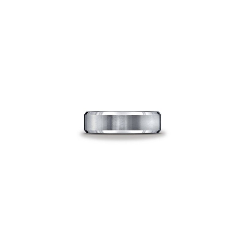 Murphy Pitard Signature Collection Tungsten Beveled Edge 8 Millimeter Band, Size 11.5