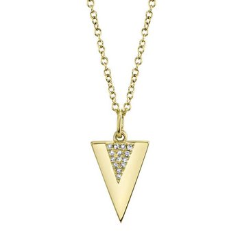 Diamond Triangle Polished Necklace