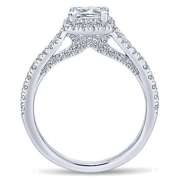 Verbena Princess Diamond Halo Engagement Ring