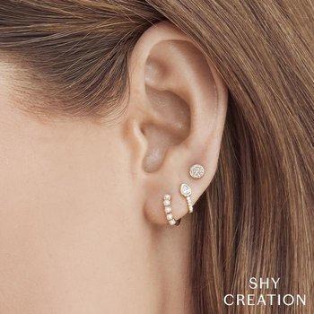 Pearl Huggie Hoop Earrings