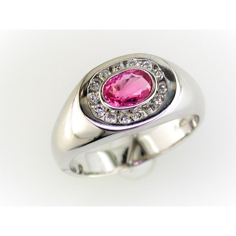 Murphy Pitard Signature Collection Pink Sapphire & Diamond Ring