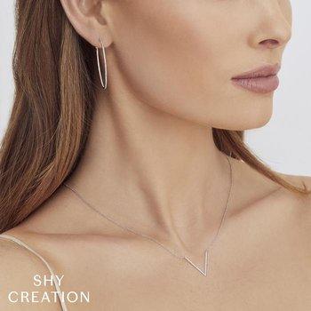 Diamond V Pendant Necklace