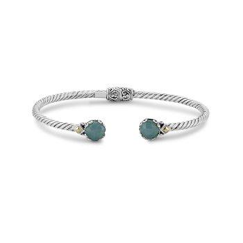 Aquamarine Twisted Bangle Bracelet