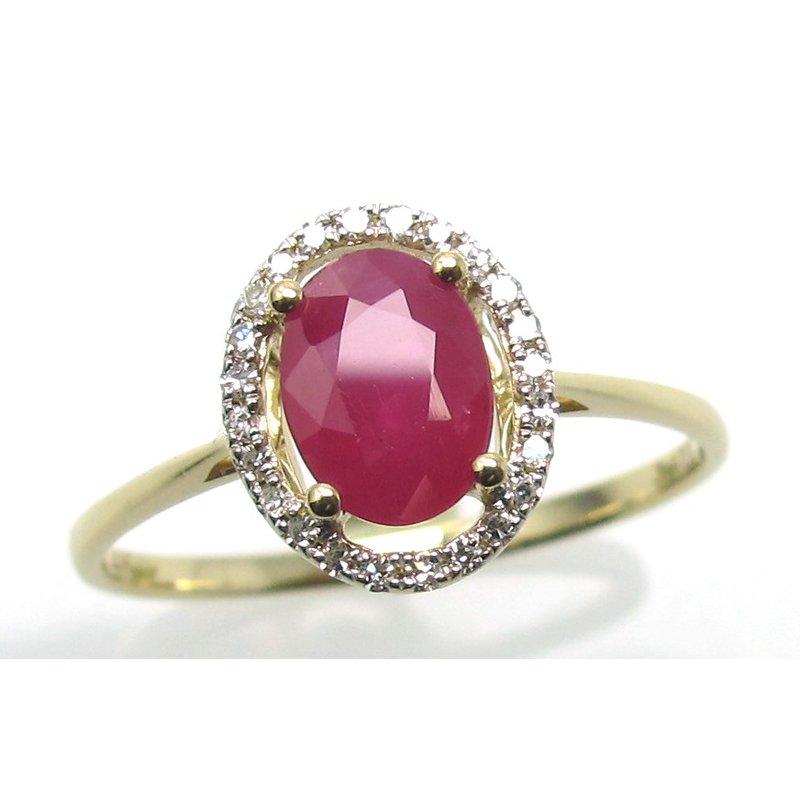 Murphy Pitard Signature Collection Ruby & Diamond Halo Ring