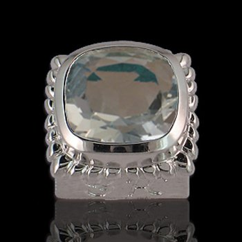 Caerleon Cushion Cut Aquamarine Square Bezel Insert