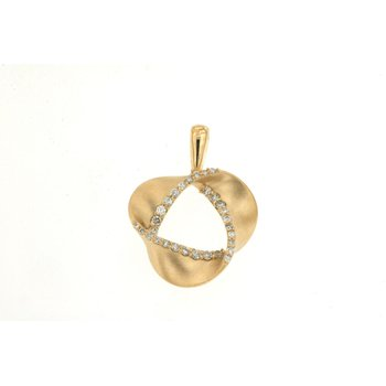 Diamond Twist Fashion Pendant Necklace