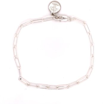 Small Sterling Silver Paperclip Bracelet