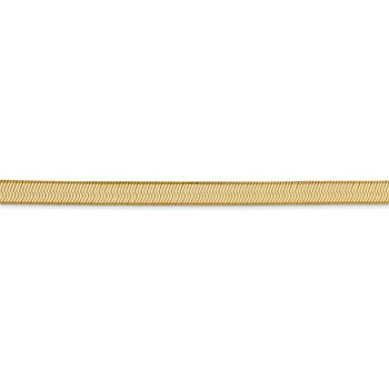 Yellow Gold Herringbone Chain