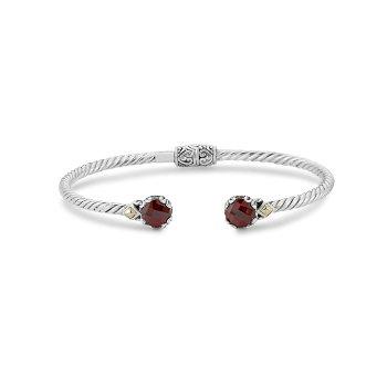 Garnet Twisted Bangle Bracelet