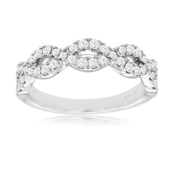 Twist Diamond 1/2 Carat Band
