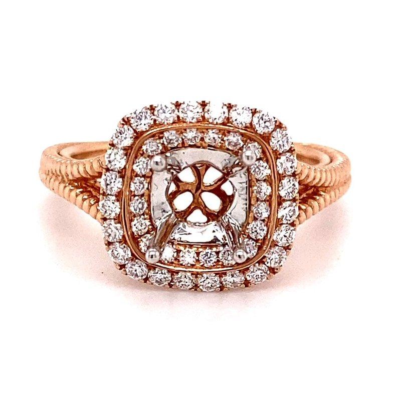 Murphy Pitard Signature Collection Diamond Double Halo Semi-Mount Engagement Ring