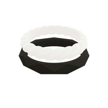 Women's Stackable Silicone Rings Set Size 8