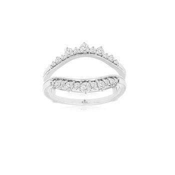 Diamond 1/2 Carats Tiara Wedding Ring Guard