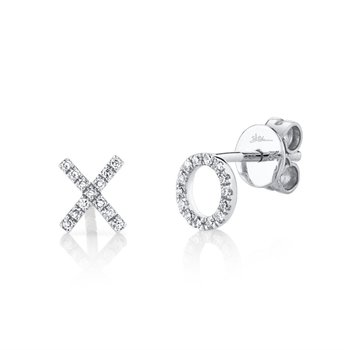 Diamond X & O Earrings