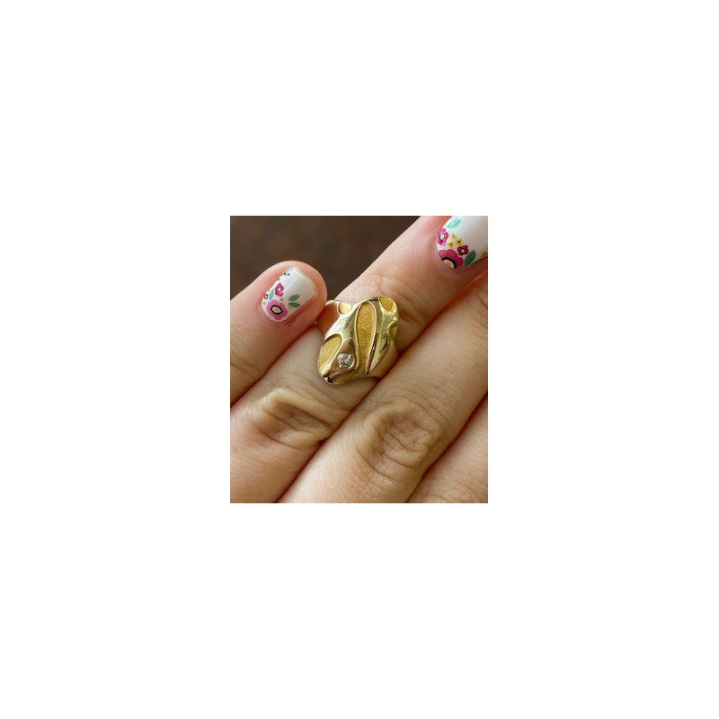 Murphy Pitard Estate Collection Diamond Free form Fashion Ring