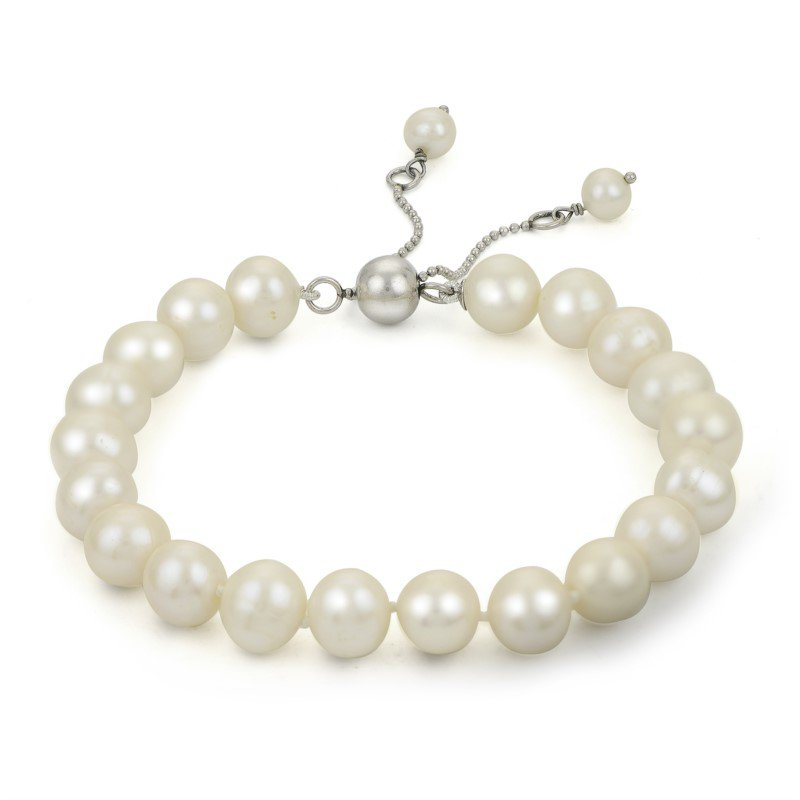 Murphy Pitard Signature Collection Freshwater Pearl Adjustable Bracelet with Five Pearls
