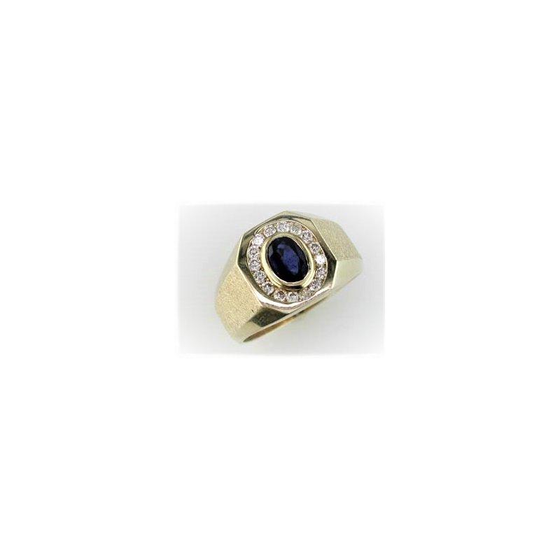 Murphy Pitard Signature Collection Gents Diamond & Sapphire Ring