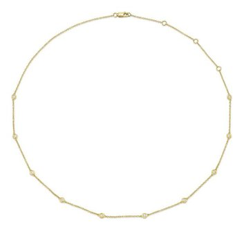 Diamond By The Yard Station Necklace