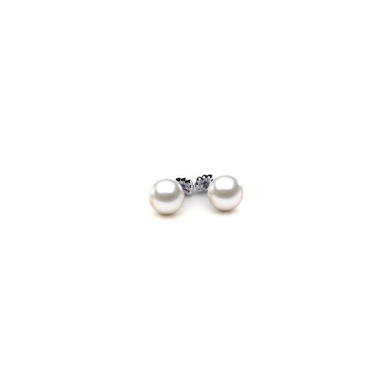 Murphy Pitard Signature Collection Freshwater Pearl 10 Millimeter Stud Earrings