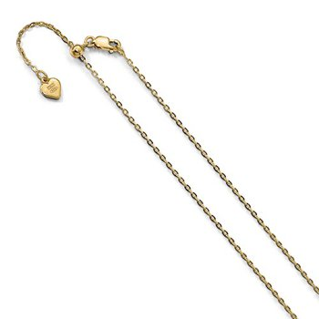 Adjustable Yellow Plated Chain
