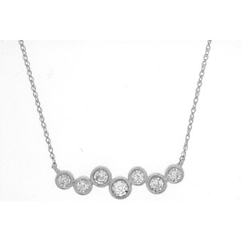 Bezel Diamond Bar Necklace