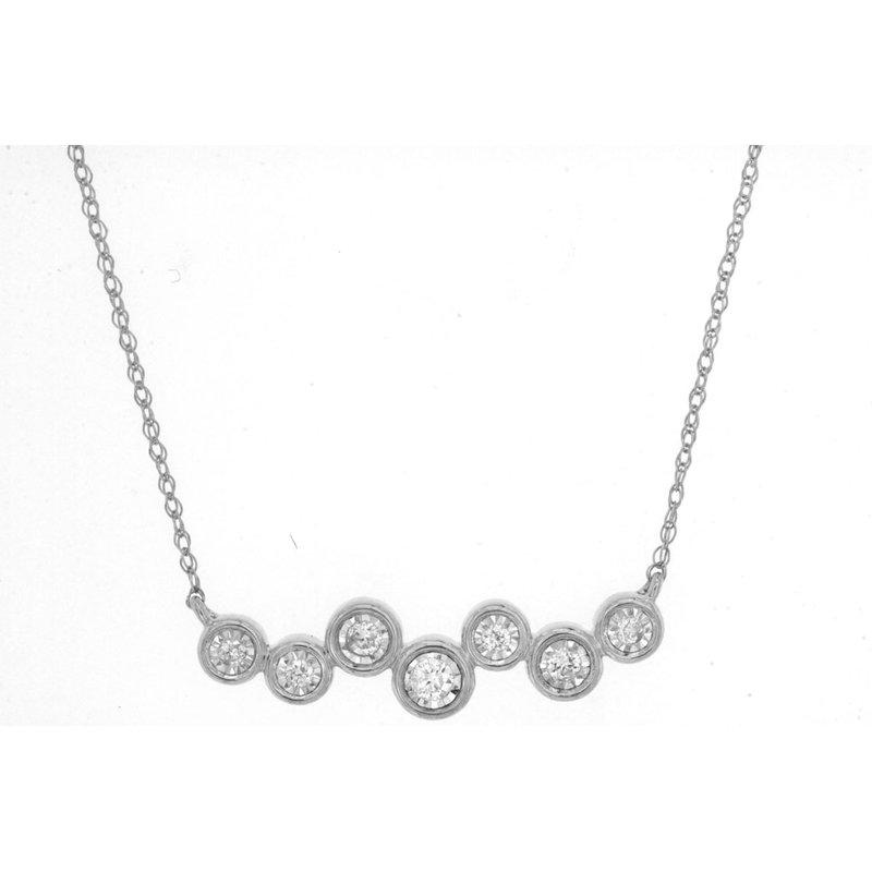 Murphy Pitard Signature Collection Bezel Diamond Bar Necklace