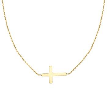 East2West Mini Cross Necklace