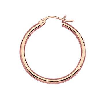 Medium Polished Hoop Earrings