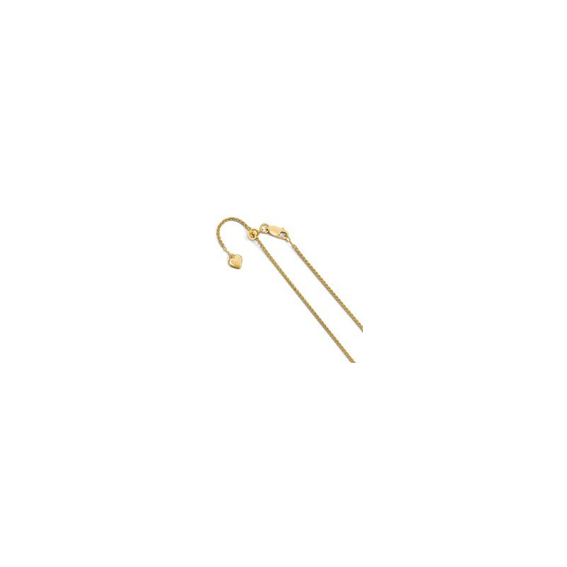 Murphy Pitard Signature Collection Adjustable 1.5 Millimeter Spiga Wheat Chain