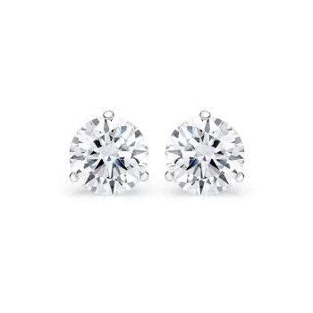 Martini Set 1 1/2 Carats Diamond Stud Earrings