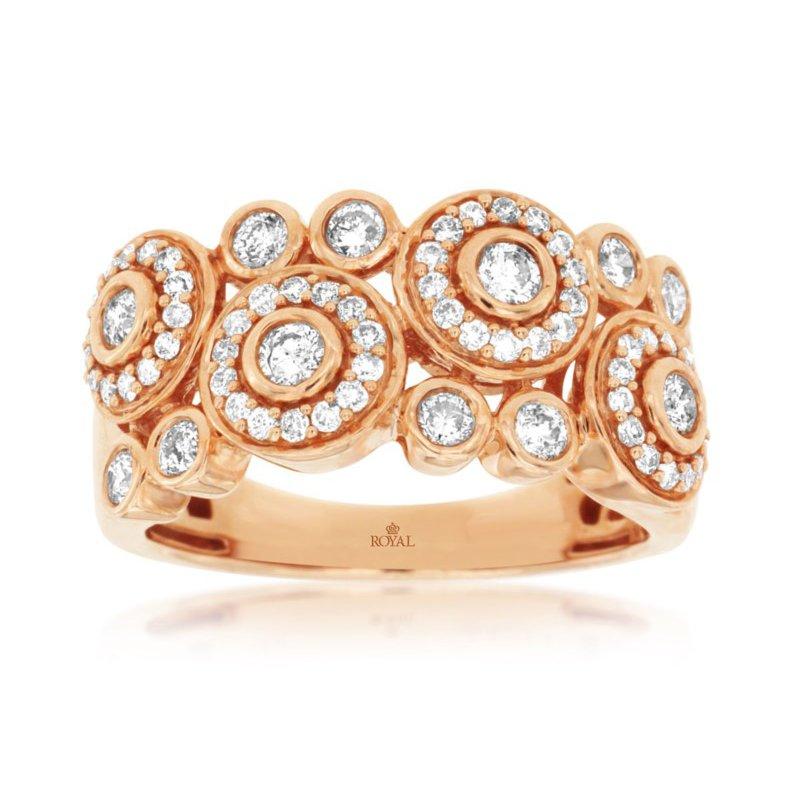 Murphy Pitard Signature Collection Geometric Bezel Diamond Fashion Right Hand Ring