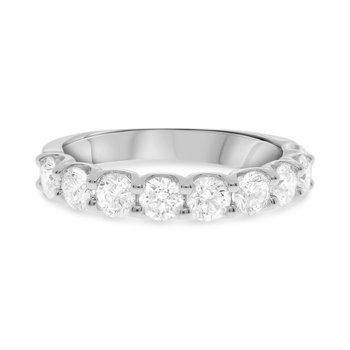 White Diamond 9 Stone 1.5 Carats Anniversary Band