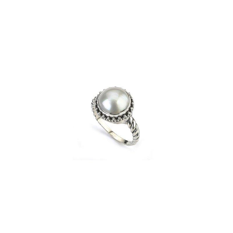 Samuel B. Silver Mabe Pearl Ring
