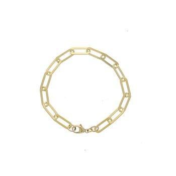 Large Gold-Filled Paperclip Bracelet