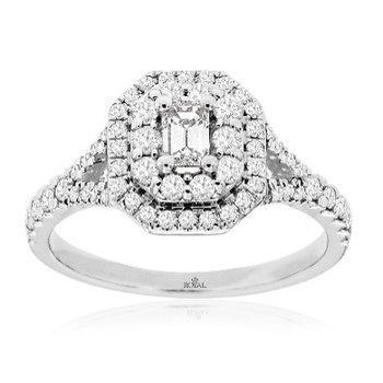 Diamond Double Halo Engagement Ring