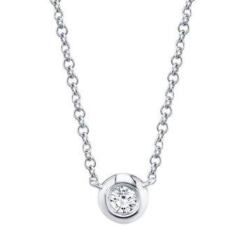 Kate Collection Diamond .05 Carats Bezel Necklace