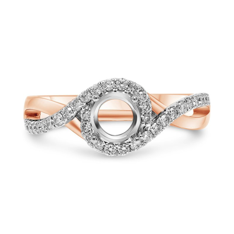 Murphy Pitard Signature Collection Twist Pavé Shank Engagement Ring