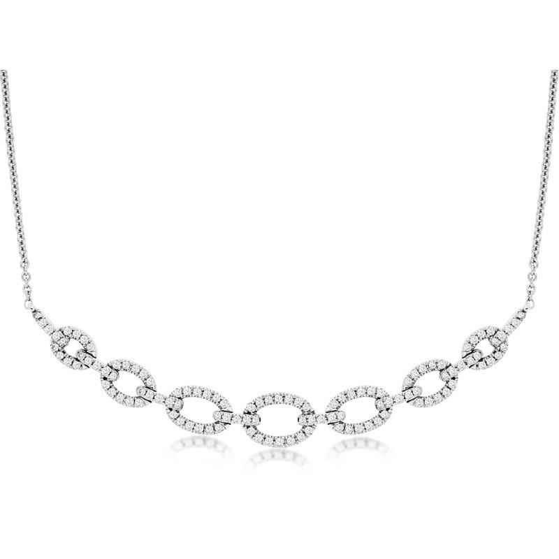 Murphy Pitard Signature Collection Diamond 1/4 Carats Open Link Bar Necklace