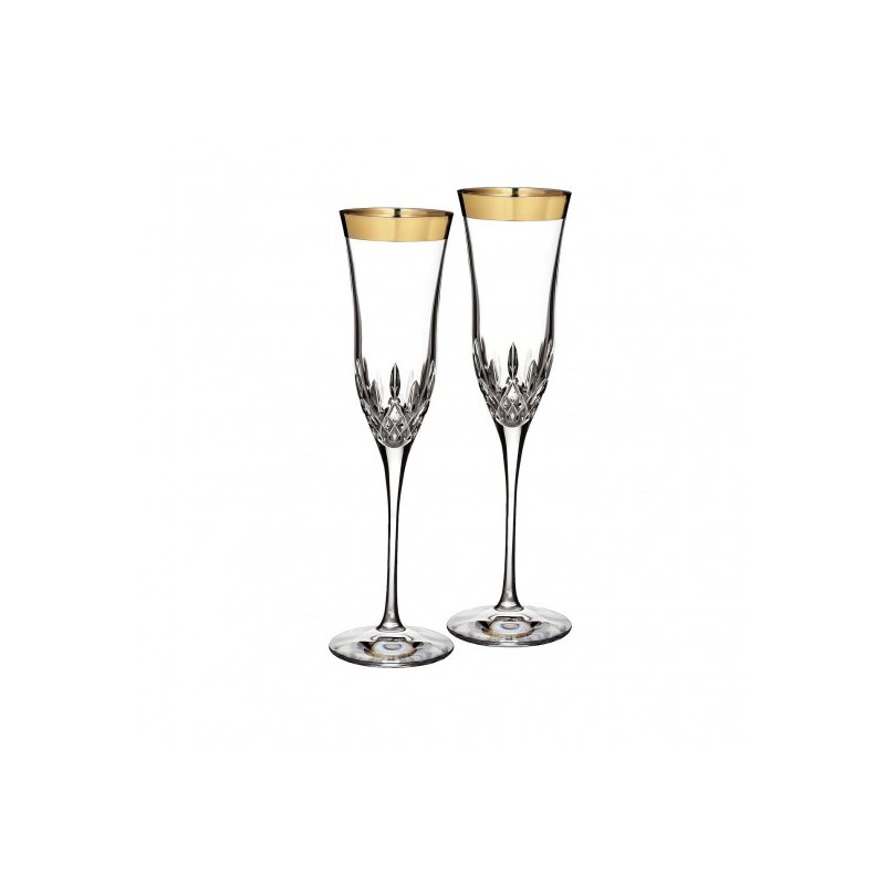 Waterford Crystal Champagne Flute Pair
