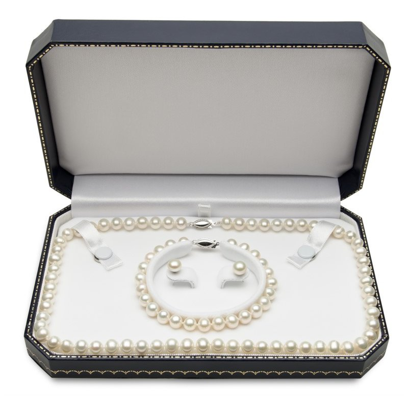 Murphy Pitard Signature Collection Freshwater Pearl Set Containing a Strand Necklace Strand Bracelet and Stud Earrings